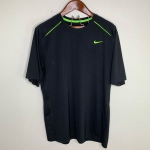 Nike Dri Fit Loose Black Lightweight Active Top XL